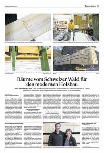 Bäume vom Schweizer Wald für den modernen Holzbau